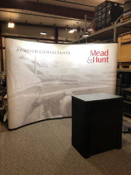 trade show mead & hunt display
